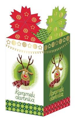 Bērnu Ziemassvētku Saldumu kārba /kartona iepakojums/ (270 gr.)